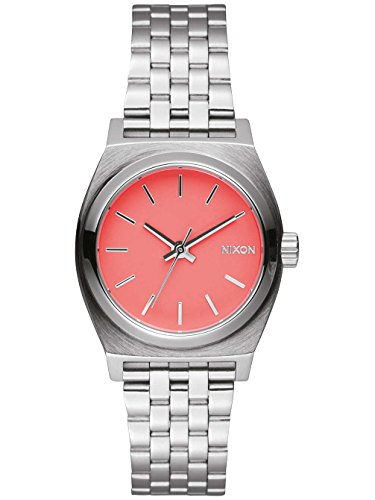 NIXON Quarzuhr Small Time Teller A399 2054 00 Bright Coral