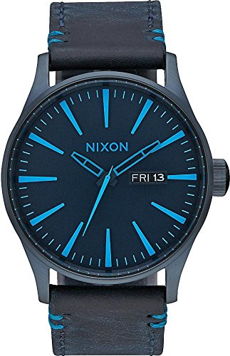 NIXON Sentry Leather All Dark Blue A105 2224 Herrenuhr