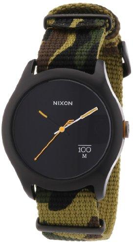 Nixon Unisex Armbanduhr A3441253 00 The Quad Woodland Camo Analog Quarz Nylon