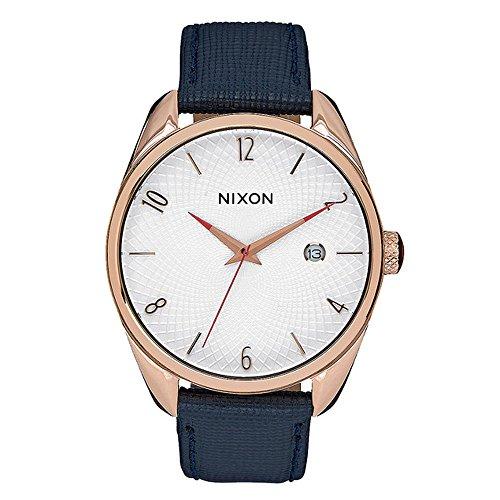 Nixon Unisex Armbanduhr Bullet Leather Analog Quarz Leder A4732160 00