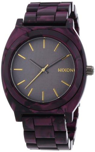 Nixon Unisex Armbanduhr Time Teller Acetate Gunm Velvet Analog Quarz Plastik A3271345 00