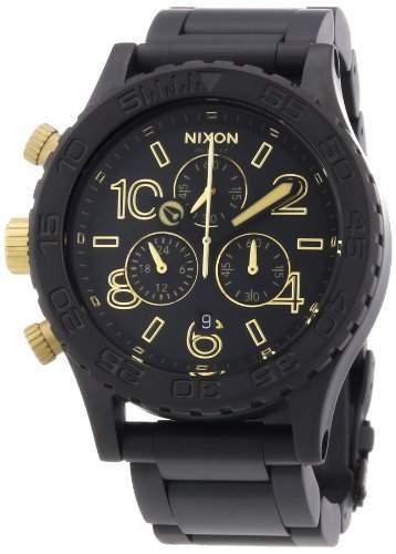 Nixon Unisex-Armbanduhr The 42-20 Chrono Chronograph Quarz Edelstahl beschichtet A0371219-00