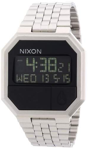 Nixon Unisex-Armbanduhr Re-Run Digital Quarz Edelstahl A158000-00