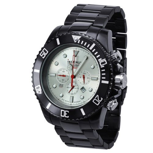 Insignum ip212405 Armbanduhr Armband aus Edelstahl Farbe Schwarz