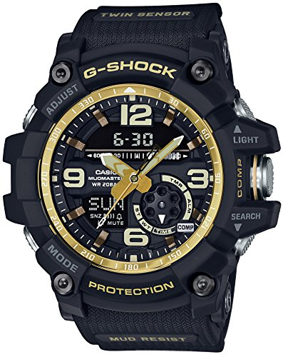 CASIO G SHOCK MASTER OF G Vintage Black Gold MUDMASTER GG 1000GB 1AJF MENS