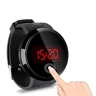 Fenkoo Herren Beobachten digital Sportuhr LED Touchscreen Silikon Band Armbanduhr