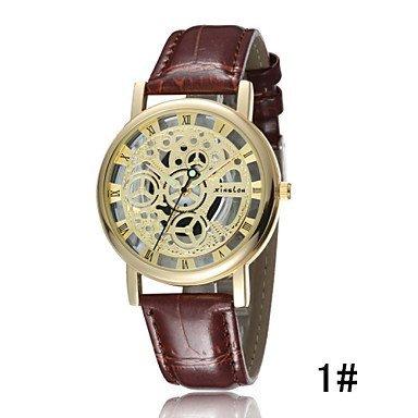 Fenkoo Herren Beobachten Quartz Modeuhr Wasserdicht leuchtend Leder Band Armbanduhr