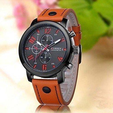 curren Luxusfreizeit Maenner Uhren Analogmilitaersportquarz maennlich Armbanduhren montre homme