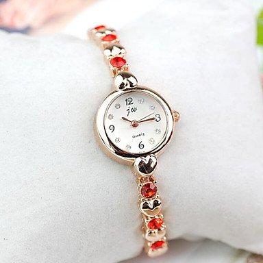 Fenkoo Koreanische Version des neuen herzfoermigen Strass Armbanduhr