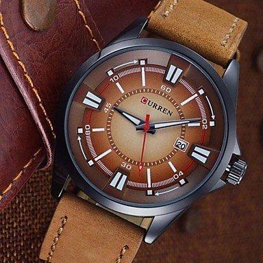 Fenkoo Marken curren Maenner datieren Uhr Maenner laessig Quarzuhr Lederhandsportuhren
