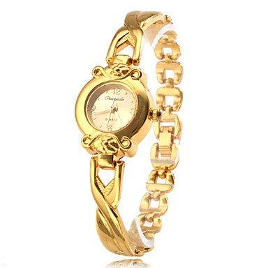 Fenkoo Frauen Quarzentsprechung goldenen Legierung Band Armbanduhr