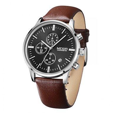 megir Luxusmarke 2015 Business Uhr Quarz Uhren und wasserdichten Outdoor Chronograph