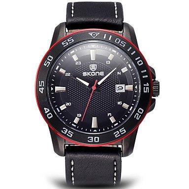 Fenkoo Skone Auto Datum Uhren Herren Luxusmarke Peeling echtes Leder Uhr wasserdichte Art und Weise beilaeufiges Armbanduhr