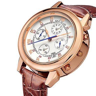 megir 2015 Herrenuhr von Mode einzigartiges Design mit Duplex Wahlluxusmarken Quarz Uhren