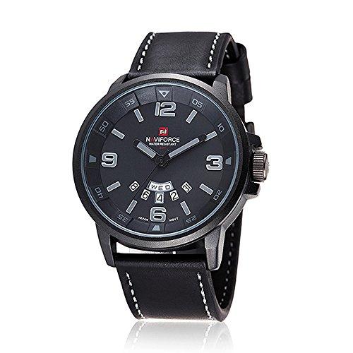 neue Marke Mode fuer Maenner Sportuhren Herren Quarz Stunden Tag Uhr Mann Lederarmband militaerischen Armee wasserdichte Armbanduhr