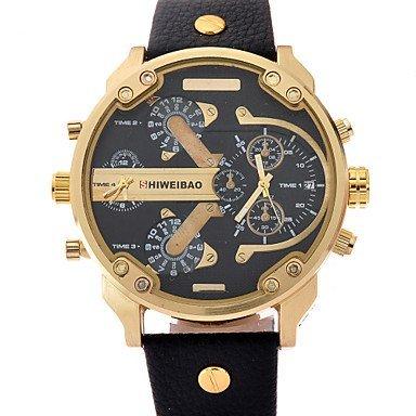 shiweibao Uhren Luxusmarke Maenner Sportuhren der Maenner Quarz analoge Datum Lederarmbanduhr montres hommes