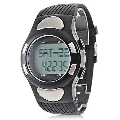 Fenkoo Herren Sportuhr digital LCD Kalender Chronograph Wasserdicht Alarm Caucho Band Armbanduhr Schwarz