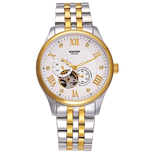Casima Herren Roemische Zahl Analog automatische mechanische Skelett Handgelenk Uhren Business Kleid Wasserdicht 100 m 8807 gs8