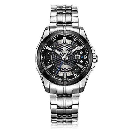 Casima Herren Automatische Solar Energy Luminous Wasserdicht 328 ft Handgelenk Uhren er 9905 s7