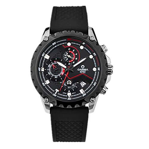 Casima Herren Sport Chronograph Kalender Display Silikon Band Quarz Handgelenk Uhren 8203 sp7