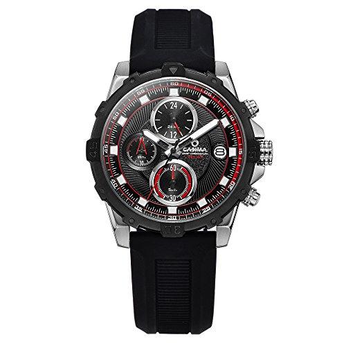 Casima Herren Sport Chronograph Wasserdicht Silikon Band Quarz Handgelenk Uhren st 8306 sp71e