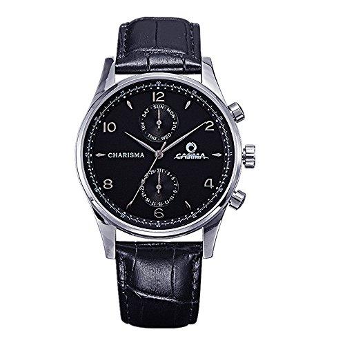 Casima Herren Classic Business Kalender Display Quarz Leder Band cr 5114 sl7 Handgelenk Uhren