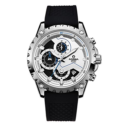 Casima Herren Fashion Multifunktions Chronograph Sport Quarz Zeitmesser Silikon Band Wasserdicht Handgelenk Uhren st 8203 sp8