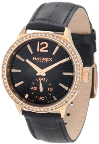 Haurex Italy Grand Class Black Dial Watch FH341DNH