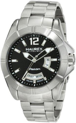 Haurex Italy Herren Armbanduhr XL Aston Analog Edelstahl 7A366UNN