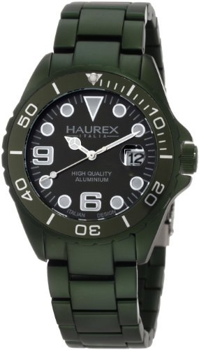 Haurex Italy Haurex Italien Green Zifferblatt Green Aluminium Mens Watch 7K374UVV