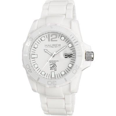 Haurex Italy Haurex Italien Caimano White Zifferblatt Kunststoff Mens Watch W7354UWW