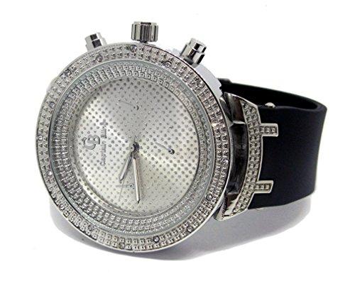 Pave Master Classy Armbanduhr 3d Luenette HipHop Bling versilbert