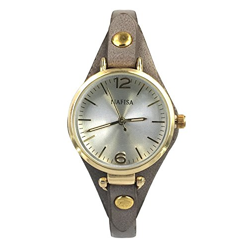 City naf sa Damen Elegante Fashion klein Zifferblatt Leder Armband Armbanduhr na 0022