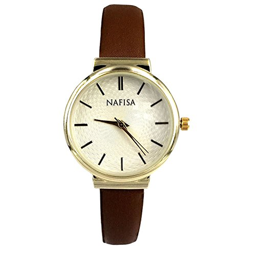 Nafisa Frauen kleine Zifferblatt Stoff Gurt Armbanduhr NA 0036