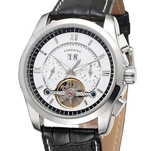 forsining Herren Automatische mechanische wasserdichten Tourbillon Handgelenk Uhren fsg625 m3s1