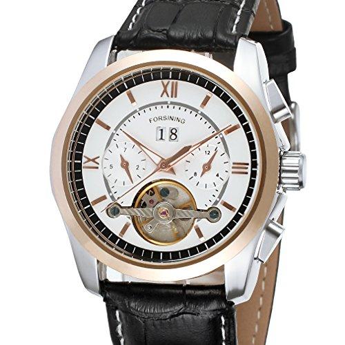 forsining Herren Automatische mechanische wasserdichten Tourbillon Handgelenk Uhren fsg625 m3t1