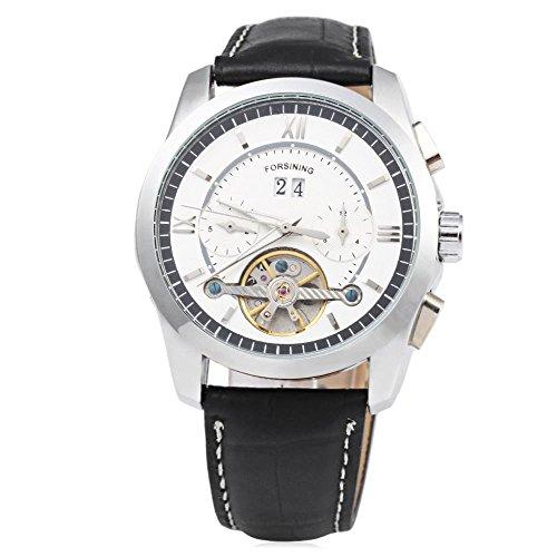 Leopard Shop forsining f120571 Herren Mechanische Armbanduhr Tourbillon automatische 6