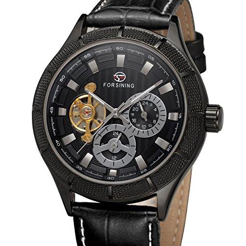 forsining Herren Automatik Leder Classic BARX Index Armbanduhr fsg566 m3b1