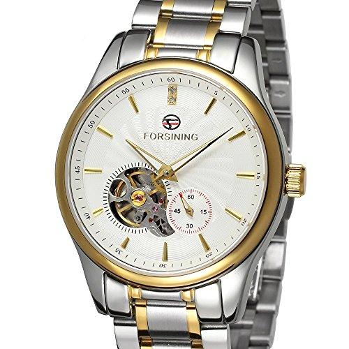 forsining Herren Edelstahl Case Automatische Luxus Armbanduhr fsg9406 m4t1