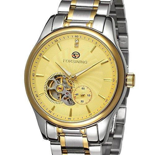 forsining Herren Edelstahl Case Automatische Luxus Armbanduhr fsg9406 m4t2