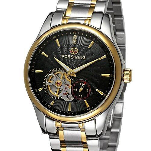 forsining Herren Edelstahl Case Automatische Luxus Armbanduhr fsg9406 m4t3