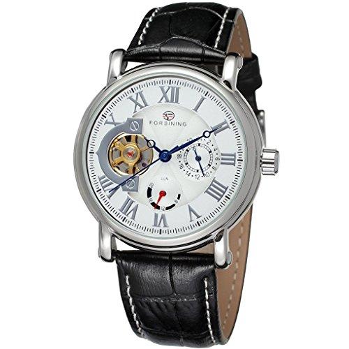 forsining Herren Echtes Leder Analog Zifferblatt automatische Armbanduhr fsg800 m3s7