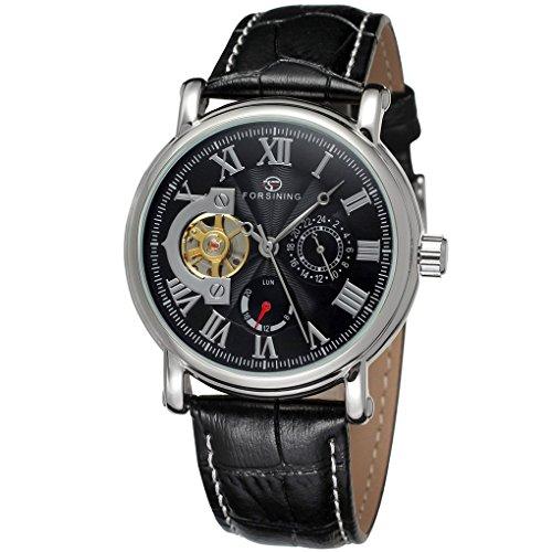 forsining Herren Echtes Leder Analog Zifferblatt automatische Armbanduhr fsg800 m3s8