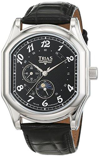 Trias Herren Armbanduhr Analog Automatik Leder T21400S