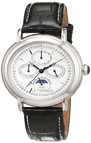 Trias Herren Armbanduhr Analog Automatik Leder TR T21584 W