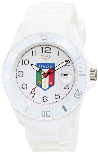 Trias Herren Armbanduhr Analog Quarz Kautschuk Sil Italien