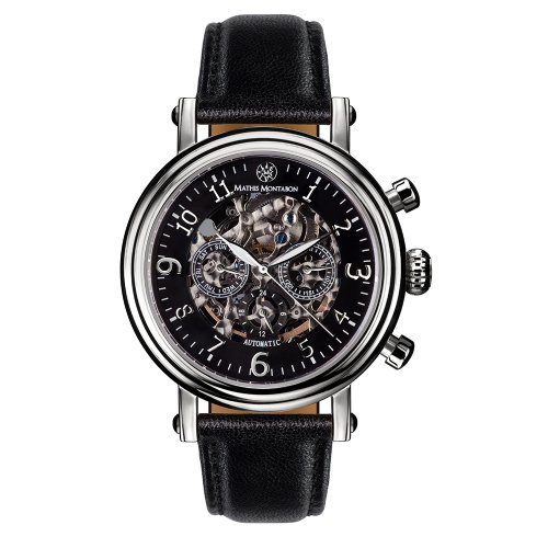 Mathis Montabon Herrenuhr Executive Leder schwarz