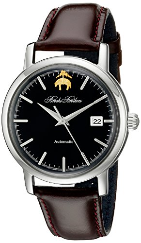 Brooks Brothers Herren silga004 Core Collection Rund Analog Display Automatische selbst wind braun Armbanduhr