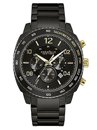 Caravelle New York Gold Black Chrono 45B146