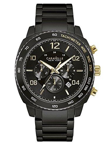Caravelle New York Gold Black Chrono Herrenuhr 45B146